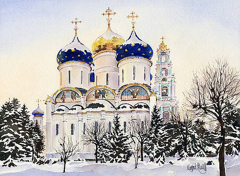 Trinity Lavra of Saint Sergius Sergiyev Posad by Margaret Merry