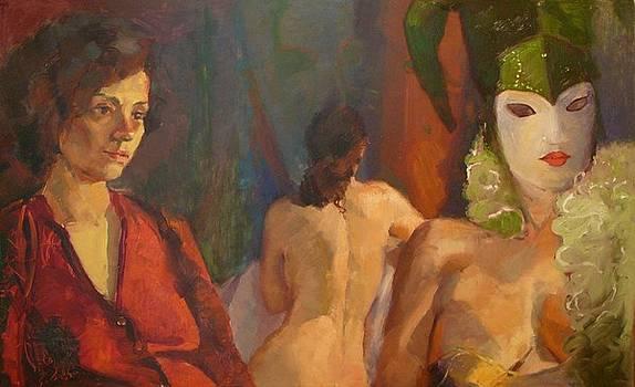 Trio with Mask by Irena  Jablonski