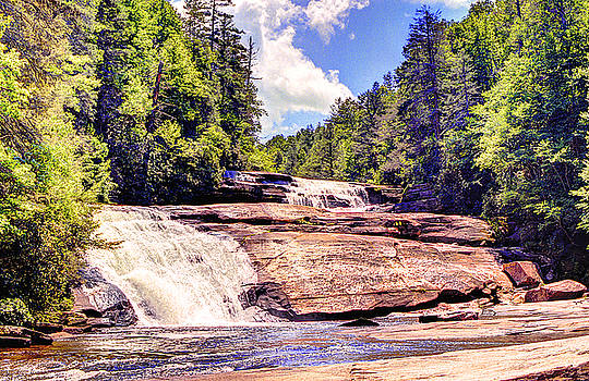 Triple Falls - Dupont Forest by William Wetmore
