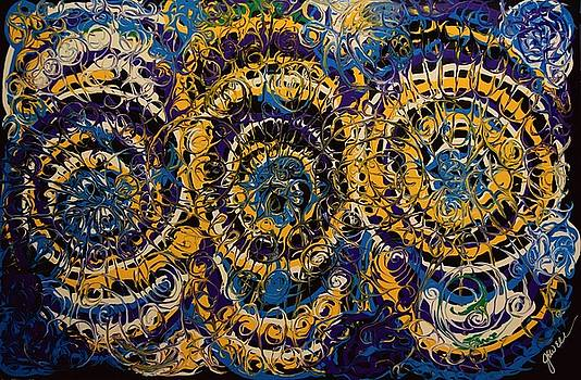 Triple Spirals 1 by Jewell McChesney