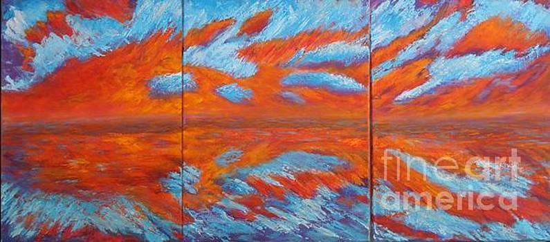 Triple Sunset by Vivian Haberfeld