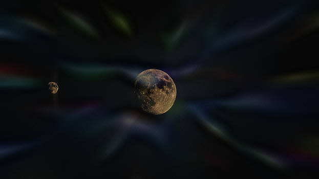 Trippy Moon 20180823 by Philip A Swiderski Jr