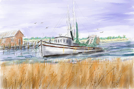 Barry Jones - Trips End - Shrimp Boat Art