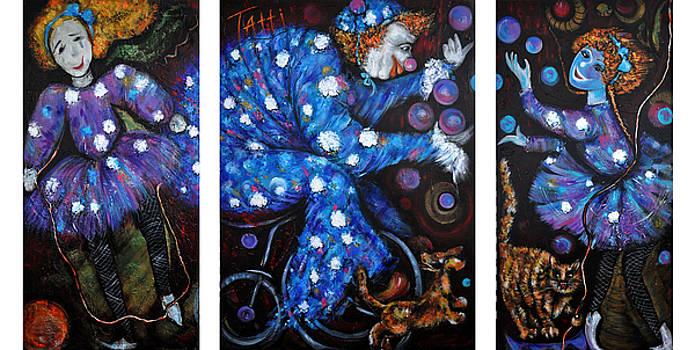 Triptich Circus by Tatiana Tatti Lobanova
