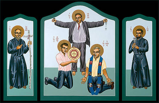 Triptych of the Companions of Jesus  by William Hart McNichols