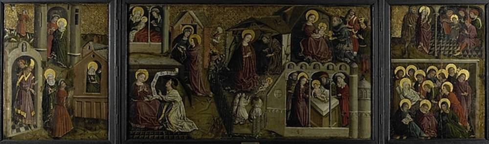 Triptych with scenes from the life of Mary  anonymous  ca  1450 by R Muirhead Art