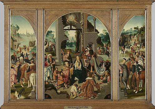 Triptych with the Adoration of the Magi by R Muirhead Art