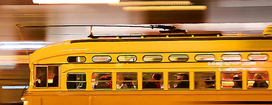 Trolley 1052 On The Move by Steve Siri