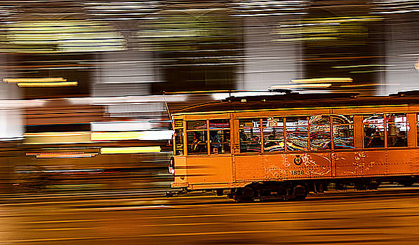 Trolley 1856 On The Move by Steve Siri