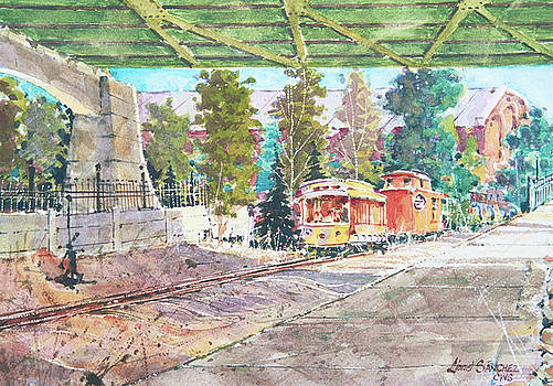 Trolley on Platte River by Lionel Sanchez