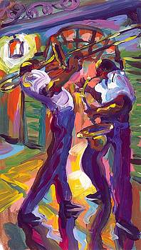 Trombone and Saxophone by Saundra Bolen Samuel