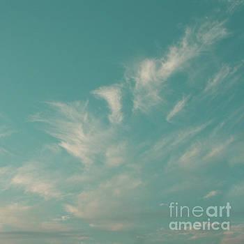 Tropical Aquamarine Blue Sky And Clouds by Sharon Mau