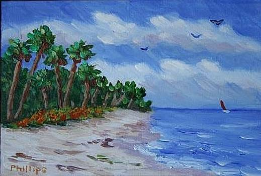 Tropical Beach by Bob Phillips