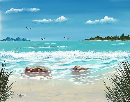 Tropical Beach  by Harry Dusenberg