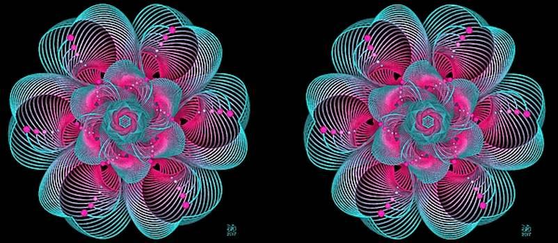 Tropical Bloom-Stereogram by David Voutsinas