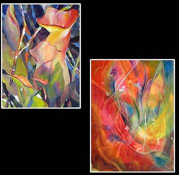 Tropical Calla Lilies by Vicki Brevell