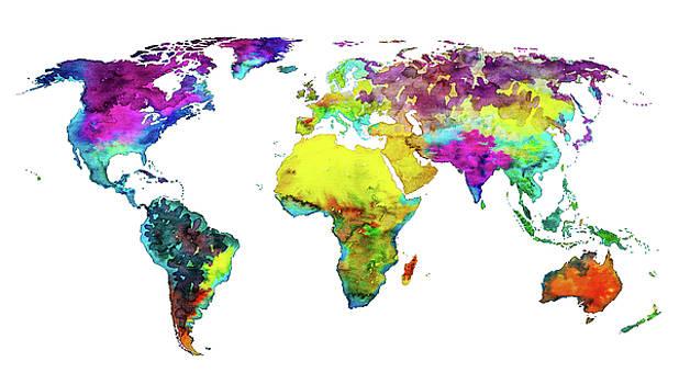 Tropical Color Worldmap by Ricardo Bouman