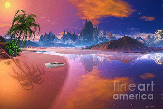 Tropical Dream Island Beach by Heinz G Mielke