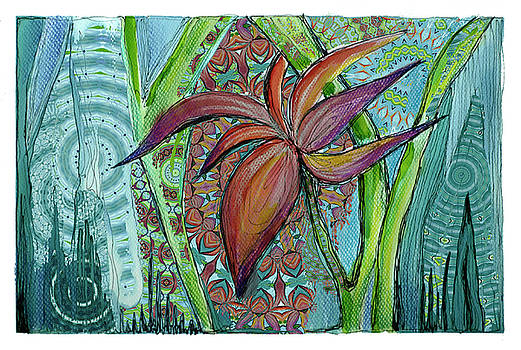 Tropical flower by Zsuzsa Magulya