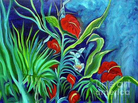 Tropical Flowers 1 by Jenny Lee