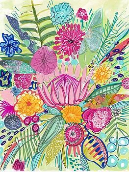 Tropical Foliage by Rosalina Bojadschijew