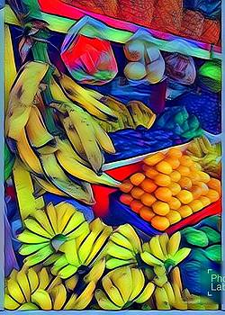 Tropical Fruit Cart  by Marina Gutierrez