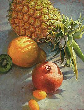 tropical Fruit Large by Mia Tavonatti