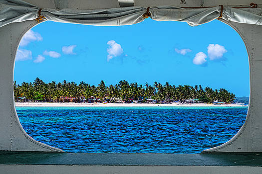 James BO Insogna - Tropical Island Boat Window View