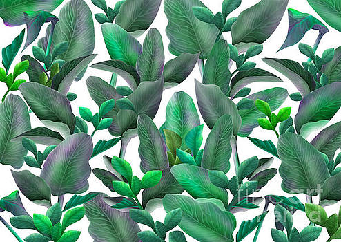 Tropical leaves pattern by Three Second