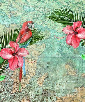 Tropical Map by Kelley Freel-Ebner