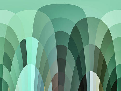 Tropical Mounds Abstract by Kathy K McClellan