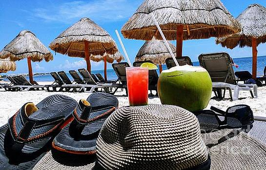 Tropical paradise sun, sand, beach and drinks. by Akshay Thaker-PhotOvation