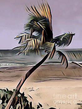 Tropical Seascape Digital Art A7717  by Mas Art Studio