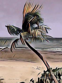 Tropical Seascape Digital Art A7717L by Mas Art Studio