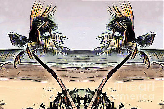 Tropical Seascape Digital Art B7717 by Mas Art Studio