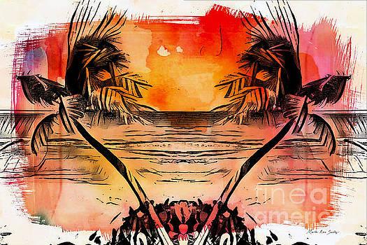 Tropical Seascape Digital Art C7717 by Mas Art Studio