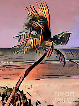 Tropical Seascape Digital Art E7717 by Mas Art Studio