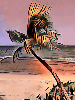 Tropical Seascape Digital Art E7717L by Mas Art Studio