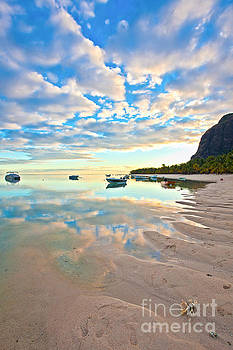 Tropical Sunrise in Mauritius by Christy Woodrow