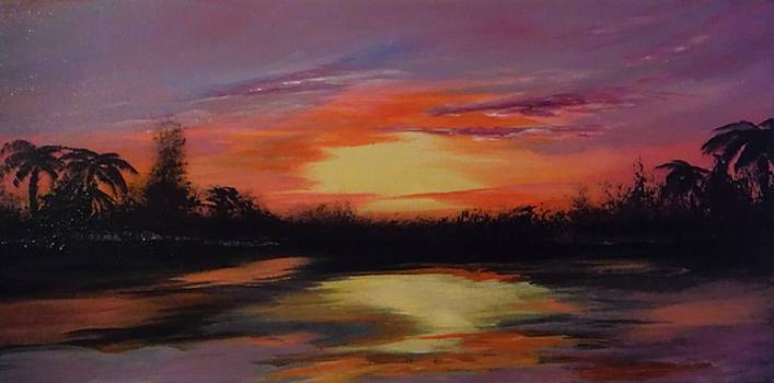 Tropical Sunset by Jacqueline Whitcomb