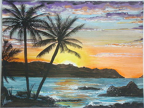 Tropical Sunset by Jorge Luis  Iniguez