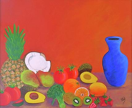 Tropical Table by Iris  Mora