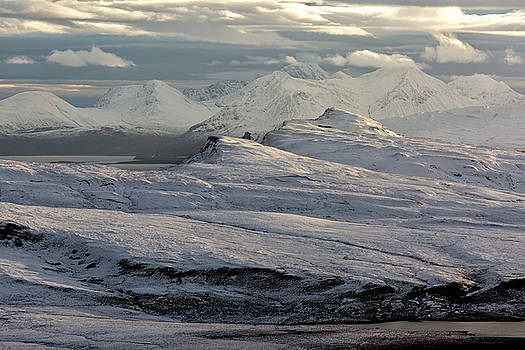 Trotternish Peninsula and Cuillin Mountains Isle of Skye by Derek Beattie