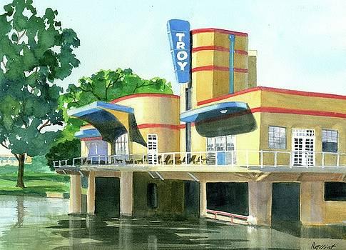 Troys Treasure Island Boathouse and Marina by Marsha Elliott