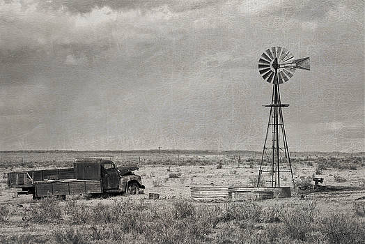 Julie Magers Soulen - Truck and Windmill BW