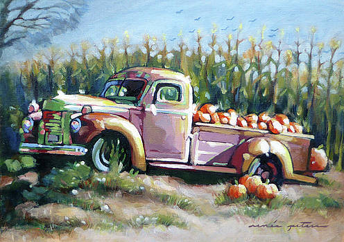 Truck with Pumpkins by Renee Peterson