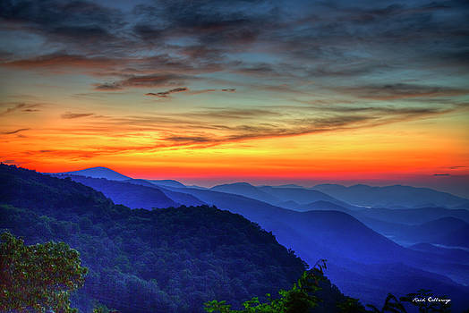 Majestic Blue Ridges Pretty Place Chapel Sunrise Great Smoky Mountains Art by Reid Callaway