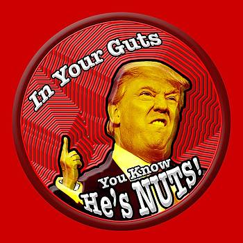 Trump In Your Guts You Know He's NUTS by James Thomas Green