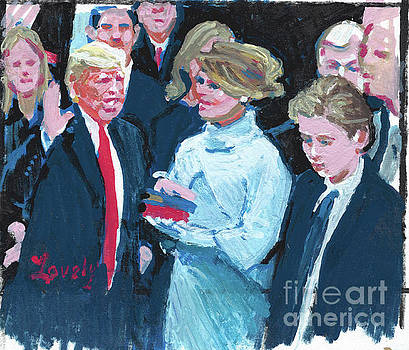 Trump Sworn In as 45th Potus by Candace Lovely