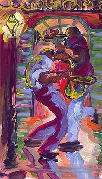 Trumpet and Saxophone Two by Saundra Bolen Samuel